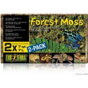 Exo Terra Forest Moss 2x7l Pack Pt3095 Shm005 Pets