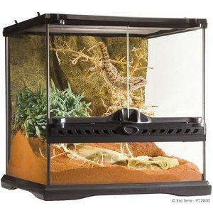 Exo Terra Glass Terrarium Mini/wide 30x30x30cm,pt2600 Tht005 Pets
