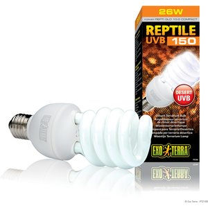Exo Terra Reptile Uvb 150 Compact Lamp 26w Lhc218 Pets