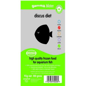 Internet Reptile Gamma Blister Pack Discus Diet 95g Zgf155 Pets