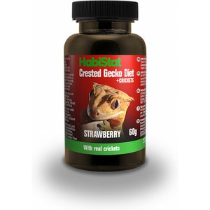 Habistat Crested Gecko Diet, Strawberry And Cricket, 60g Hscdsc Pets
