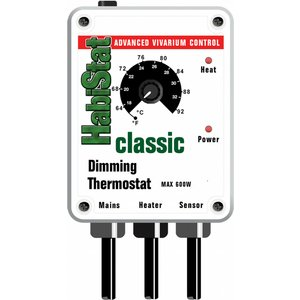 Habistat Dimming Thermostat (600w) White Htdw Pets