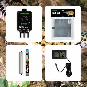 Internet Reptile Leopard Gecko Electrics Pack - Gold (with Shadedweller Prot5) Irklge010 Pets