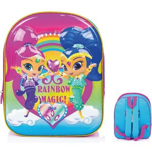 Shimmer And Shine 3d 'rainbow Magic' Luxury High Gloss Eva Backpack/ Book Bag, Perfect For