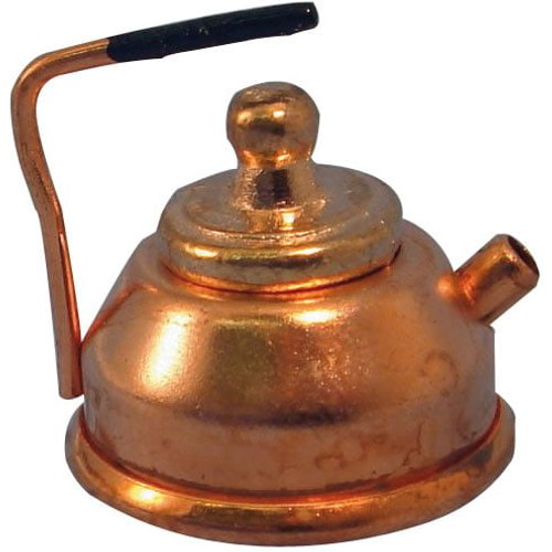 Streets Ahead 1:12th Scale Dolls House Copper Kettle - D007 class=