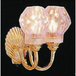 Streets Ahead 1/12th Scale Dolls House Double Wall Lamp - De067