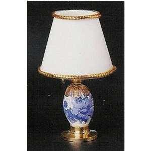 Streets Ahead Blue And White 1:12th Scale Bedroom Table Lamp - De064