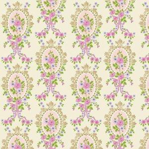 Dolls House Emporium Cream Victorian Cameo Wallpaper 430 X 600mm For Dolls House - 7078