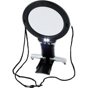 Light Craft Lightcraft Dual Purpose Neck And Desk Magnifier With Twin Bulb Led Daylight Light - Lc1850