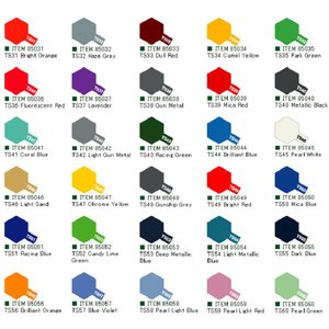 Tamiya Colour Spray Paint (100ml) Ts31-ts60 - Coral Blue - Ts41
