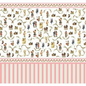 Dolls House Emporium Victorian Nursery Wallpaper 1:12 Scale Dolls House - 5193