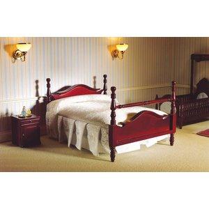 Dolls House Emporium Victorian Pediment Double Bed - 5113