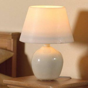 Dolls House Emporium White Ceramic Table Lamp For 1:12 Scale Dolls House - 7165