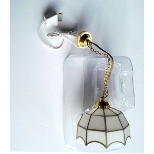 Streets Ahead White Gold Ceiling Light 12th Scale For Dolls House - De035