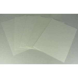 Hobbies White Plastic Styrene Sheet - 0.25mm - W25