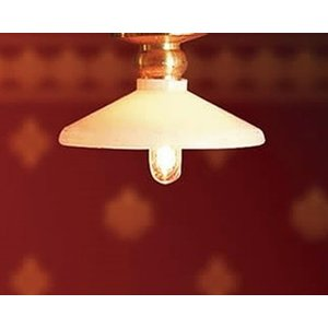 Streets Ahead Working 1:12 Scale Ceiling Light With Coolie Shade - De049b
