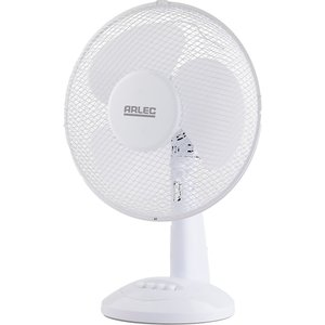 Arlec 12 Inch Plastic Desk Fan - White Heating & Cooling, White