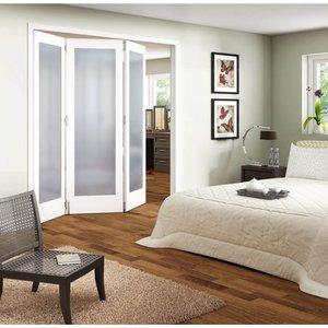 Jeldwen 3 Door Obscure Glazed White Primed Internal Room Divider - 1929mm Wide General Household, White