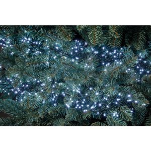 Homebase 500 Cluster Christmas Lights With Multi-functional Timer - Bright White Decorations, White