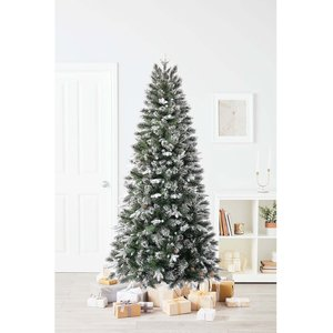 Homebase 7ft Sierra Pine Artificial Christmas Tree Decorations, Green