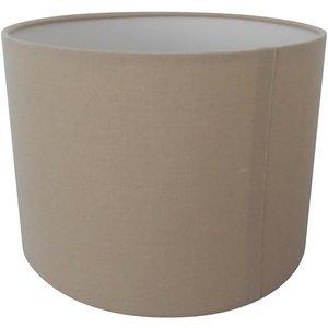None Ada Drum Lamp Shade, 25cm, Taupe Lighting