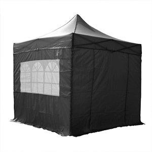 Airwave Four Seasons Essential 2.5x2.5 Pop Up Gazebo With Sides - Black Sheds & Garden Furniture