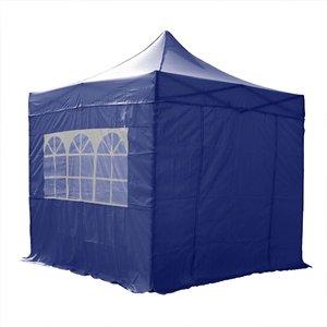 Airwave Four Seasons Essential 2.5x2.5 Pop Up Gazebo With Sides - Blue Sheds & Garden Furniture