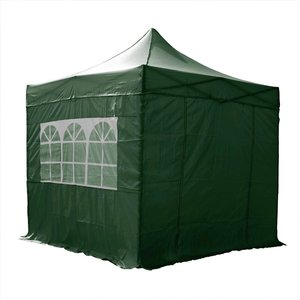 Airwave Four Seasons Essential 3x3 Pop Up Gazebo With Sides - Green Sheds & Garden Furniture
