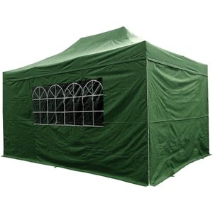 Airwave Four Seasons Essential 3x4.5 Pop Up Gazebo With Sides - Green Sheds & Garden Furniture