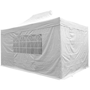 Airwave Four Seasons Essential 3x4.5 Pop Up Gazebo With Sides - White Sheds & Garden Furniture