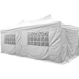 Airwave Four Seasons Essential 3x6 Pop Up Gazebo With Sides - White Sheds & Garden Furniture