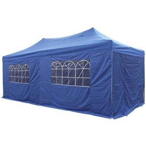 Airwave Four Seasons Essential 3x6 Pop Up Gazebo With Sides - Blue Sheds & Garden Furniture
