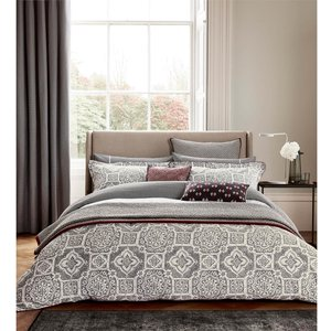 Bedeck Amaya Duvet Cover - Single - Charcoal Home Accessories