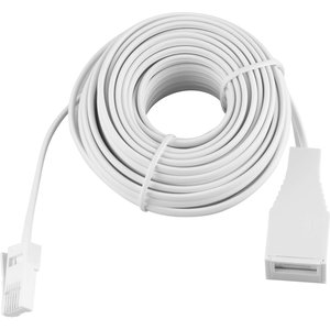Antsig Telephone Extension Lead 10m Cables, White