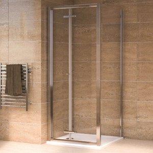 Aqualux Bi-fold Door Shower Enclosure And Tray Package - 800 X 800mm Bathroom Sinks & Taps