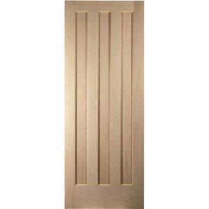 Jeldwen Aston 3 Panel White Oak Veneer Internal Door - 826mm Wide General Household, Brown