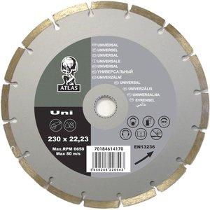None Atlas Uni Diamond Cutting Blade - 230 X 22.23mm Diy