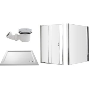 Balterley 1200 X 900mm Sliding Shower Enclosure Package Bathroom Sinks & Taps