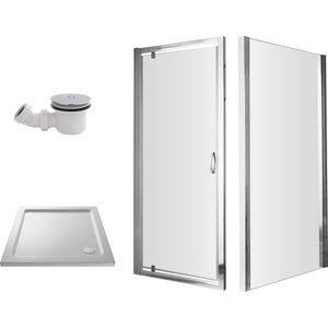 Balterley 800mm Pivot Shower Enclosure Package Bathroom Sinks & Taps