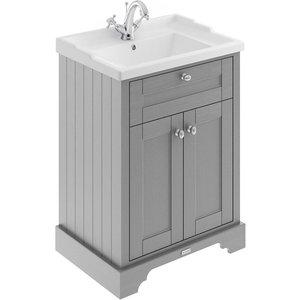 Balterley Harrington 600mm Cabinet With 1 Tap Hole Basin - Grey Bathrooms & Accessories, Grey