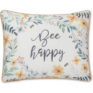 None Bee Happy Cushion Home Accessories, Cream