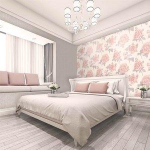 Belgravia Decor Amara Soft Pink Rose Wallpaper Home Accessories, Pink