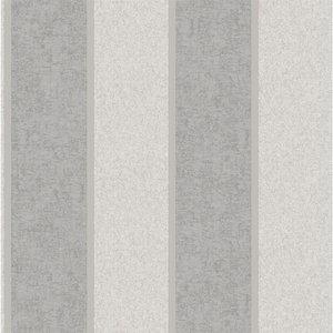 Belgravia Decor San Remo Striped Embossed Metallic Silver Wallpaper Home Accessories, Silver