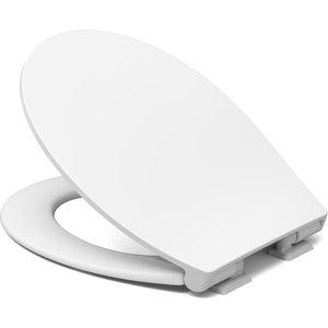 Cedo Oval Slim Plastic Soft Close Toilet Seat - White Bathrooms & Accessories, White