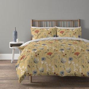 Copenhagen Home Olia Reversible Bedset - Single - Ochre Home Accessories, Yellow