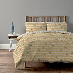 Copenhagen Home Scandi Waves Reversible Bedset - Single - Ochre Home Accessories, Yellow