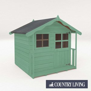Country Living Wellow Playhouse Painted + Installation - Aurora Green Sheds & Garden Furniture