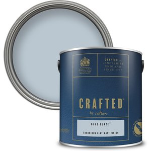 Crafted By Crown Crafted™ By Crown Flat Matt Interior Wall, Ceiling And Wood Paint – Blue Glaze™ -    Painting & Decorating, Blue