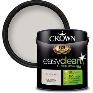 Crown Easyclean 200 Dash Of Nutmeg Matt Paint - 2.5l Painting & Decorating, Natural