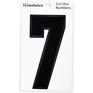 Sandleford Cut Out Self Adhesive House Number - 105mm - 7 Furniture